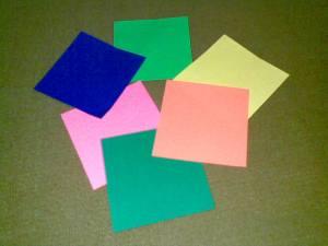 Origami Kubus (sambil nunggu Belanda-Uruguay)