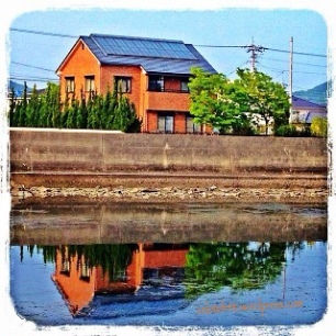 house n its reflection