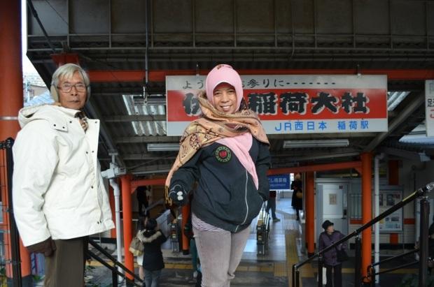 sampai juga di Inari station :D