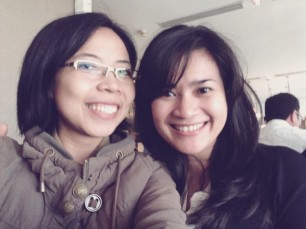 selfie with Ikke Nurjanah